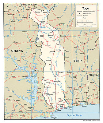 Togo political map 2007, CIA.jpg