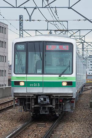 Tokyo Metro 05 series - A 3-car Chiyoda Line set, March 2014