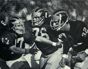 Tom Slade - Slade (No. 17) with Jim Brandstatter (No. 76) and Fritz Seyferth (No. 32), 1971