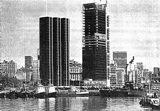 Argentine Industrial Union - The new headquarters nears completion in 1973. A symbol of Argentine industrial growth, the building was sold to Pérez Companc in 2001.