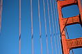 Tower and cables of the Golden Gate bridge in San Francisco 79.jpg