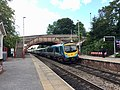 TransPennine Express Class 185 at Garforth station, August 2020.jpg