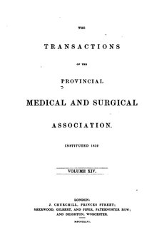 Transactions of the Provincial Medical and Surgical Association, volume 14.djvu