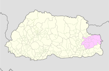 Location of Samkhar Gewog