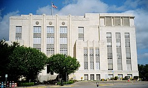 The Travis County, Texas Courthouse located at...