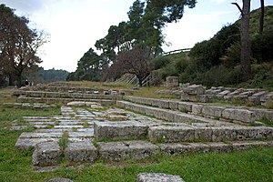 Treasuries in northern Olympia, Greece.