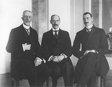 The three constitutional monarchs of the Scandinavian kingdoms of Sweden, Norway & Denmark gathered in November 1917 in Oslo.From left to right: Gustaf V, Haakon VII & Christian X.