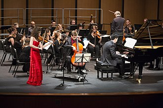 Kevin Kwan Loucks - Trio Céleste performing Beethoven's Triple Concerto at the Marcus D. Hurlbut Theater on July 12, 2014