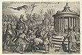 Triomf van Kuisheid Zes triomfen van Petrarca (serietitel), RP-P-OB-11.071.jpg