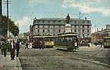 Straßenbahnverkehr am Monument Square (1909)