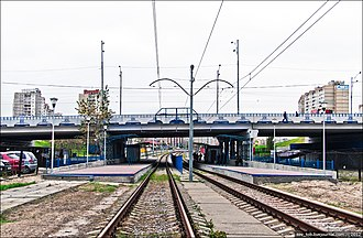 Kiev Light Rail - Image: Tsvetaevoyi Fast Tram Station