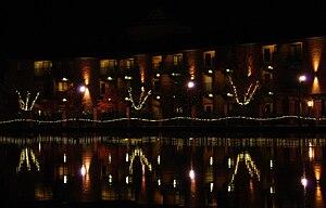 Tualatin, Oregon - Tualatin Commons at night