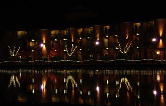 Tualatin, Oregon - Tualatin Commons at night