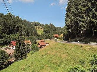 Sankt Peter, Baden-Württemberg - Image: Tussen Sankt Peter en Glottertal, wegpanorama foto 2 2013 07 25 12.17