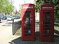 Two Red Telephone Boxes - Bournville - geograph.org.uk - 1266843.jpg