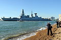 Type 45 Destroyer HMS Daring Leaves Portsmouth for First Operational Deployment MOD 45153524.jpg