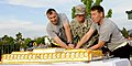 U.S. Army Col.(P) John Thomson, deputy commander of the 4th Infantry Division and Fort Carson, and Command Sgt. Maj. Brian M. Stall, senior enlisted adviser, cut a cake in celebration of the Army's 238th 130613-A-UK001-004.jpg
