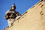 U.S. Marine Corps Lance Cpl. Pablo Perez provides security during counter-improvised explosive device training at Camp Leatherneck in the Helmand province of Afghanistan on April 2, 2013 130402-M-RF397-045.jpg