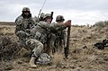 U.S. Soldiers assigned to the 1st Battalion, 23rd Infantry Regiment, 3rd Stryker Brigade Combat Team, 7th Infantry Division prepare to fire an M224 60 mm mortar system during a training exercise at the Yakima 131012-A-ET795-374.jpg