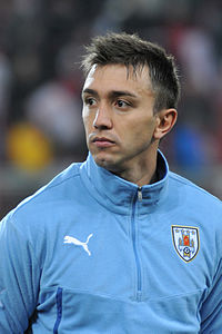 Fernando Muslera - the charming, handsome, talented,  football player  with Uruguayan roots in 2018