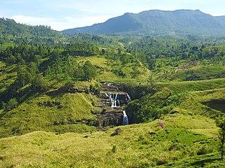 St. Clairs Falls waterfall in Sri Lanka
