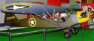 Piper J-3 Cub - An L-4A painted and marked to represent an aircraft that flew in support of the Allied invasion of North Africa in November 1942