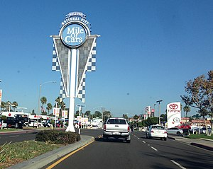 National City, California - Entrance to the Mile of Cars