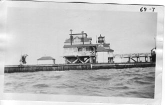 Roe Island Light - USCG photo, August 7, 1924
