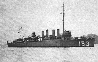 USS Bernadou (DD-153) - Image: USS Bernadou (DD 153) in 1921