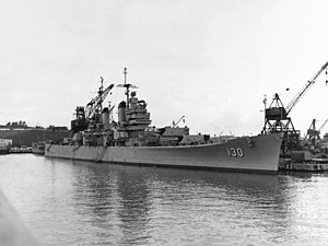 USS Bremerton fitting out for Korean War service
