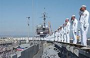 USS Constellation decommissioning ceramony