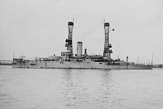 USS Illinois (BB-7) - Illinois in 1919 in the Philadelphia Navy Yard