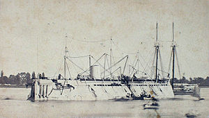 USS New Ironsides - New Ironsides as she appeared on blockade duty.