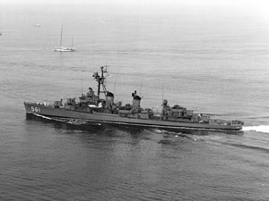 USS Prichett (DD-561) - USS Prichett (DD-561) underway in 1969