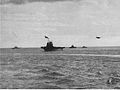 USS Saratoga (CV-3) underway with screen c1944.jpg