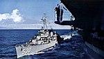 USS Trathen (DD-530) comes alongside of USS Princeton (CVS-37), circa in 1957.jpg