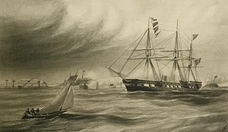 USS Wabash (1855) - Wabash at Fort Sumter
