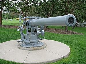 """4""""/50 caliber gun - Image: USS Ward 4 inch gun Minnesota Capitol"""