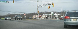 New Jersey Route 31 - Intersection between US 202/Route 31 and Route 179/CR 514 in Ringoes