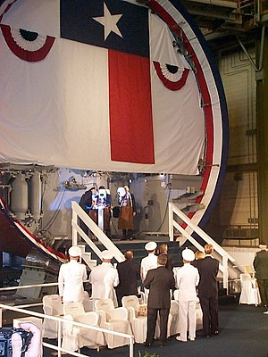 USS Texas (SSN-775) - SSN-775's keel being laid in July 2002.