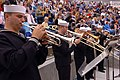 US Navy 050319-N-0685S-010 Navy Band Southwest Brass Quintet plays as the crew of the Los Angeles-class attack submarine USS Jefferson City (SSN 759) is introduced at Sea World San Diego, Calif.jpg