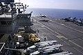 US Navy 050811-N-9389D-007 An F-A-18F Super Hornet lands on the flight deck aboard the conventionally powered aircraft carrier USS Kitty Hawk (CV 63).jpg