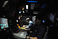 US Navy 060519-N-2959L-004 Cryptologic technicians monitor electronic emissions in the Electronic Warfare module aboard the Nimitz-class aircraft carrier USS Ronald Reagan (CVN 76).jpg