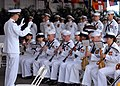 US Navy 070508-N-4965F-001 Sailors assigned to the U.S. Pacific Fleet Band perform for guests during a change of command ceremony for Commander, U.S. Pacific Fleet on board Naval Station Pearl Harbor.jpg