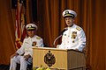 US Navy 070608-N-3642E-107 Chief of Naval Operations (CNO) Adm. Mike Mullen, speaks about the selfless service of Vice Adm. Rodney P. Rempt at the U.S. Naval Academy change of command ceremony.jpg