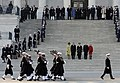 US Navy 090120-G-3550N-106 Members of the Navy Ceremonial Honor Guard conduct a pass in review for President Barack Obama and Vice-President Joseph Biden at the U.S. Capitol during the 56th Presidential Inauguration.jpg