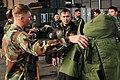 US Navy 091230-N-7730P-086 Vice Adm. Harry B. Harris Jr., commander of U.S. 6th Fleet, visits with sailors assigned to Explosive Ordnance Disposal Mobile Unit (EODMU) 8 at Naval Air Station Sigonella.jpg