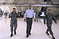 US Navy 100728-F-6655M-021 U.S. Deputy Secretary of Defense William J. Lynn III, center, tours the new RQ-4 Global Hawk Hangar area on Andersen Air Force Base, Guam.jpg