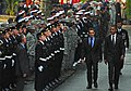 US Navy 111104-N-NW827-072 President Barack Obama and French President Nicolas Sarkozy review French and U.S. service members.jpg