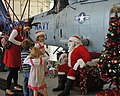 US Navy 111203-N-UD469-195 Santa Clause greets Sailors and their families during the Helicopter Anti-Submarine Squadron (HS) 10 and Helicopter Sea.jpg
